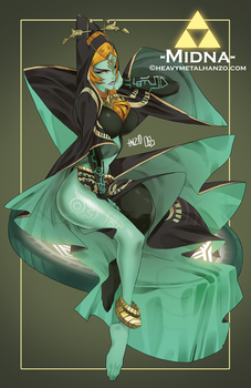 Twilight Princess-Midna by HeavyMetalHanzo