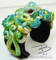 Spring Green Octopus Cuff by TinfoilHalo