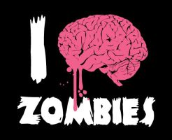 I Brain Zombies by Folker