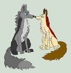 My parents in wolf version by DevilSana-Chan