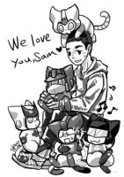 TF cats - We love you sam by chingc