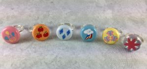 My Little Pony Cutie Mark Rings by LeiliaClay
