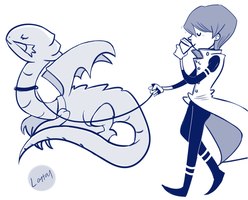 a boy and his dragon by lortay