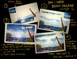 beach collage- how to by maridawood