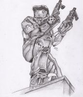Master Chief by cheeseball3434