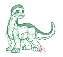 Littlefoot sketch by xNIR0x