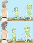 Human LBT Ducky and Spike stomping in mud by Animedalek1