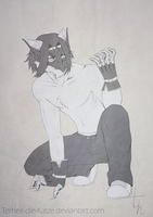 Commission - Gargoyle by Torheit-die-Katze