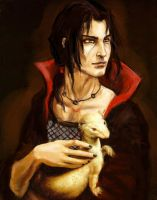 Itachi with an ermine by Maureval