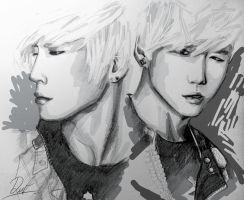 BANG and Himchan by Shadent-strife