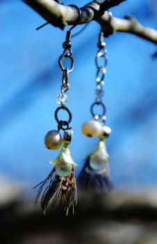 Steam and Glass Earings by nazzara