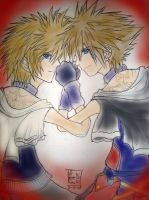 Sora Roxas Color part 1 by Kagamikage