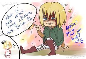 Armin hit his head by hyokka