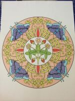 Butterflys and Flowers ~ Mandala by VISIONARYGirl