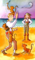 Monkey island by Gigei