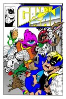 Galaxyman Cover color progress by Peterlc