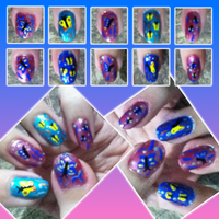 Butterfly Nail Art Manicure by MikariStar