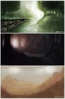 Environment speedpaintings 1 by justjingles