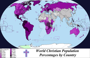 World Christian Population by Country 2012 by Iori-Komei