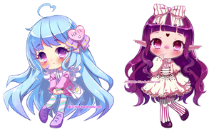 More Glossy Chibis by Neko-Rina