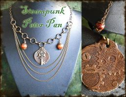 Steampunk Fall Statement Necklace: Peter Pan by random-wish
