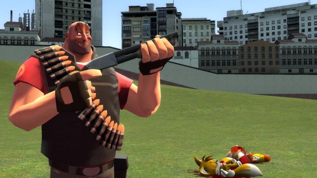 fat guy with shotgun saves us the trouble by Sergeant-Chris-Roman