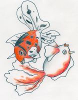 Goldeen and Seaking by Neveko