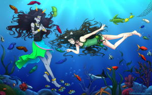 Commission - Underwater Date by feshnie