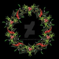 Festive Wreath by rockgem