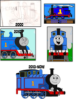 Art Evolution: Thomas by Percyfan94