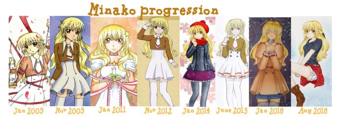 Minako Progression by Dawnie-chan