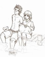 APH: Aussie and NZ sketch by tenshiamanda