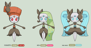Meloetta Official Forms by BrendanBass