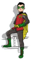 Damian Wayne as Robin by JoelRCarroll