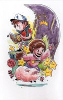 Watercolor: Gravity Falls by mikemaihack