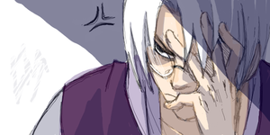 Kabuto is annoyed by Soshi-Kaze