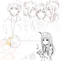 Ib and Oc doodles by Muurin
