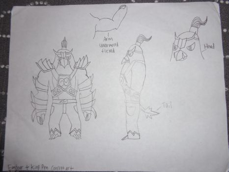 King Pen + Emboar concept art by RealSF