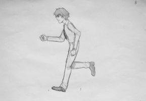 Animation: Eloy running. HE IS ALIVE OMG by AkiraHajime