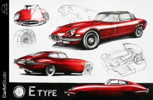 Jaguar e-type by Chrupson