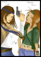Rachel and Kes -collab- by Rocul