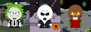 THREE TIM BURTON CHARACTERS ALL IN SOUTH PARK! by MAGANNEAL