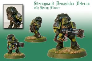 Sternguard Devastator Veteran with Heavy Flamer by Pip-Faz