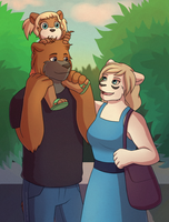 Bear family by Val-Q