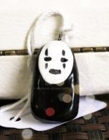 No-Face from Spirited Away - Polymer Clay Charm by MaurOwl