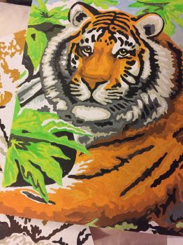 tiger painting in numbers by loxanna