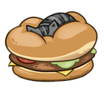 Pickles on a Burger by DemonicClarity