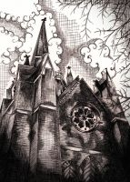 - The Dark Abney Park Trust Chapel - by STRAYsketches