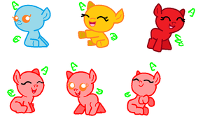 Mlp baby bases by Magicalscarfghost