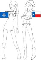 APH : Louisiana and Texas by spiritgirl16